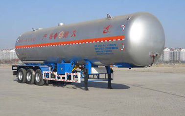 China 59.4CBM 3 Axle Semi Trailer / LNG Transport Trailers For Transport LPG supplier