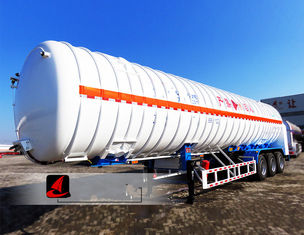 China Professional Tractor Trailer Truck 52.6CBM LNG Tank Trailer With 3 Axles supplier