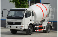 Dongfeng Concrete Batch Truck , 4m3 Capacity Mobile Cement Mixer Trucks