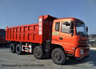 DFD3318 Industrial Dump Truck , RHD / LHD 375HP 8x4 Tipper Truck Red Color