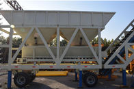 China YHZS50 JS1000 Concrete Batching Plant Mobile Type With 50 M³/H Capacity factory