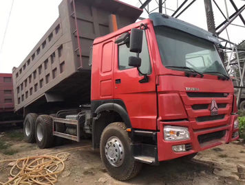 HOWO A7 Used Dump Trucks 375 HP 8900*2600*3450 Mm With Max. Speed 75 Km/H