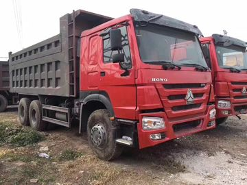 Professional Used Dump Trucks 375 HP Power Red With Max.Speed 75 Km/H