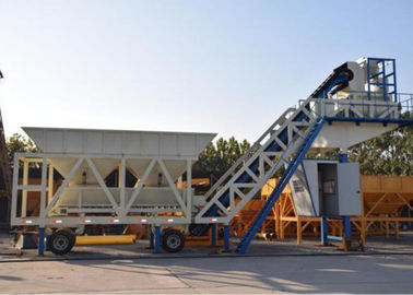 Automatic Heavy Construction Machinery Mobile Concrete Batching Plant With 100t Cement Silos