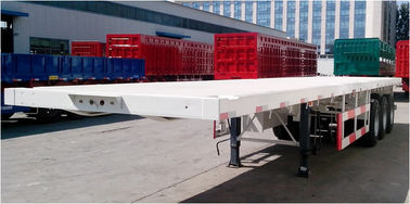 Three Axles Semi Trailer Truck For Container Loading Q345B Material