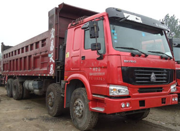 12 Wheel 8X4 Used Howo Trucks / 2nd Hand Dump Trucks 2015 Production Years