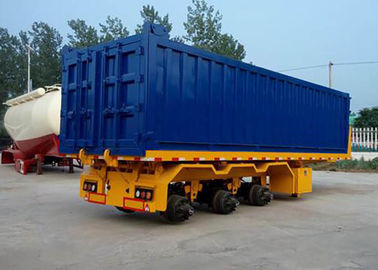 2 And 3 Axle Flatbed Semi Trailer With Capacity 40-70T ISO9001 Standard